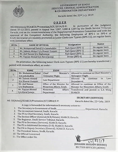 PROMOTION OF CLASS-IV EMPLOYEES AS JUNIOR CLERK-CUM-TYPISTS