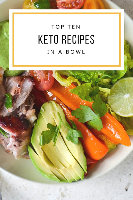 top 10 keto recipes in a bowl