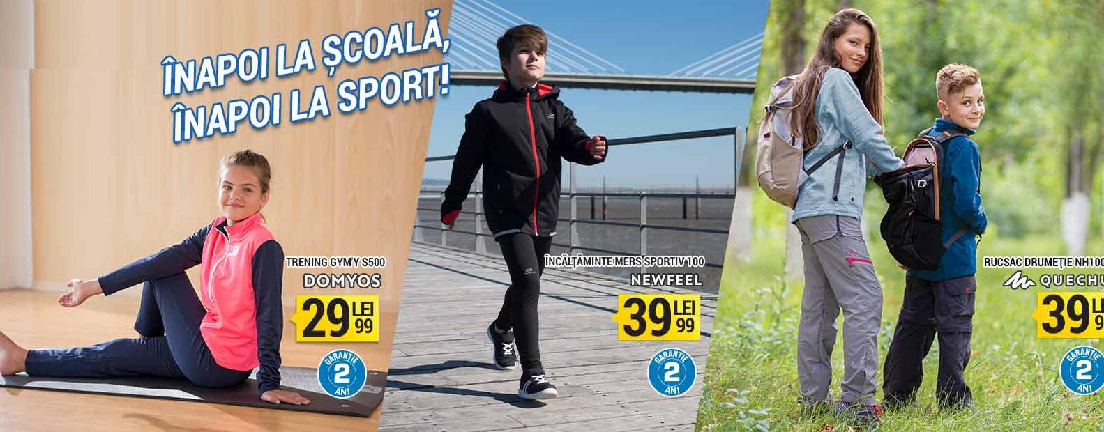 Articole sport de copii de calitate ieftine in oferta Decathlon Back to school