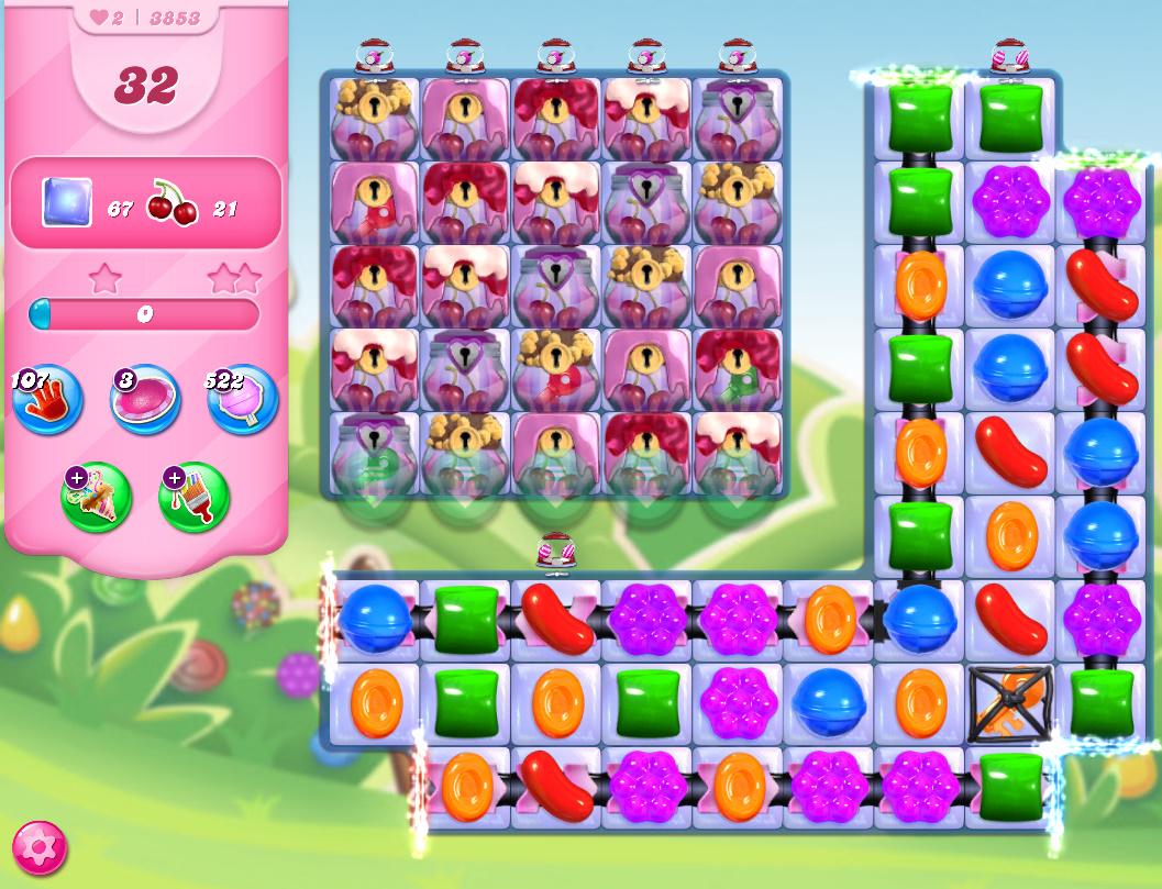 Candy Crush Saga level 3853