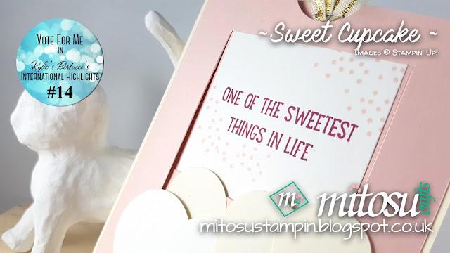 Stampin Up Mitosu Crafts Sweet Cupcake Order Stampinup UK Online Shop 1
