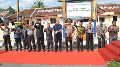 Kapolda Lampung Resmikan Polres Tulang Bawang Barat, Ini Pesannya