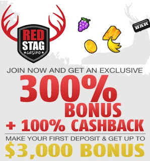 Red Stag casino cash back bonus