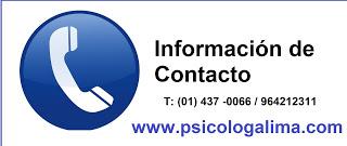 Psicólogos en Lima teléfono y precio san borja