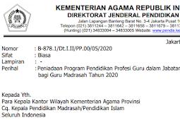 Surat Edaran Peniadaan Pelaksanaan Program Pendidikan Profesi Guru (PPG)