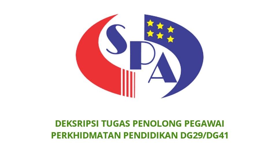 Gaji Kelayakan Tugas Pegawai Perkhidmatan Pendidikan Dg29 Dg41 Spa
