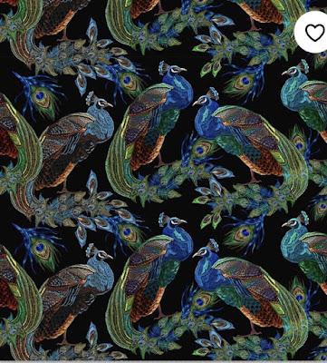 peacock print upholstery velvet