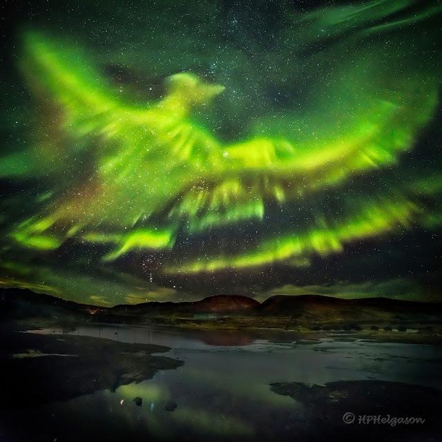 foto aurora phoenix islandia