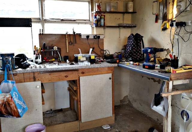 Workspace in the garage