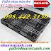 Pallet nhựa 1200x1000x120mm màu đen