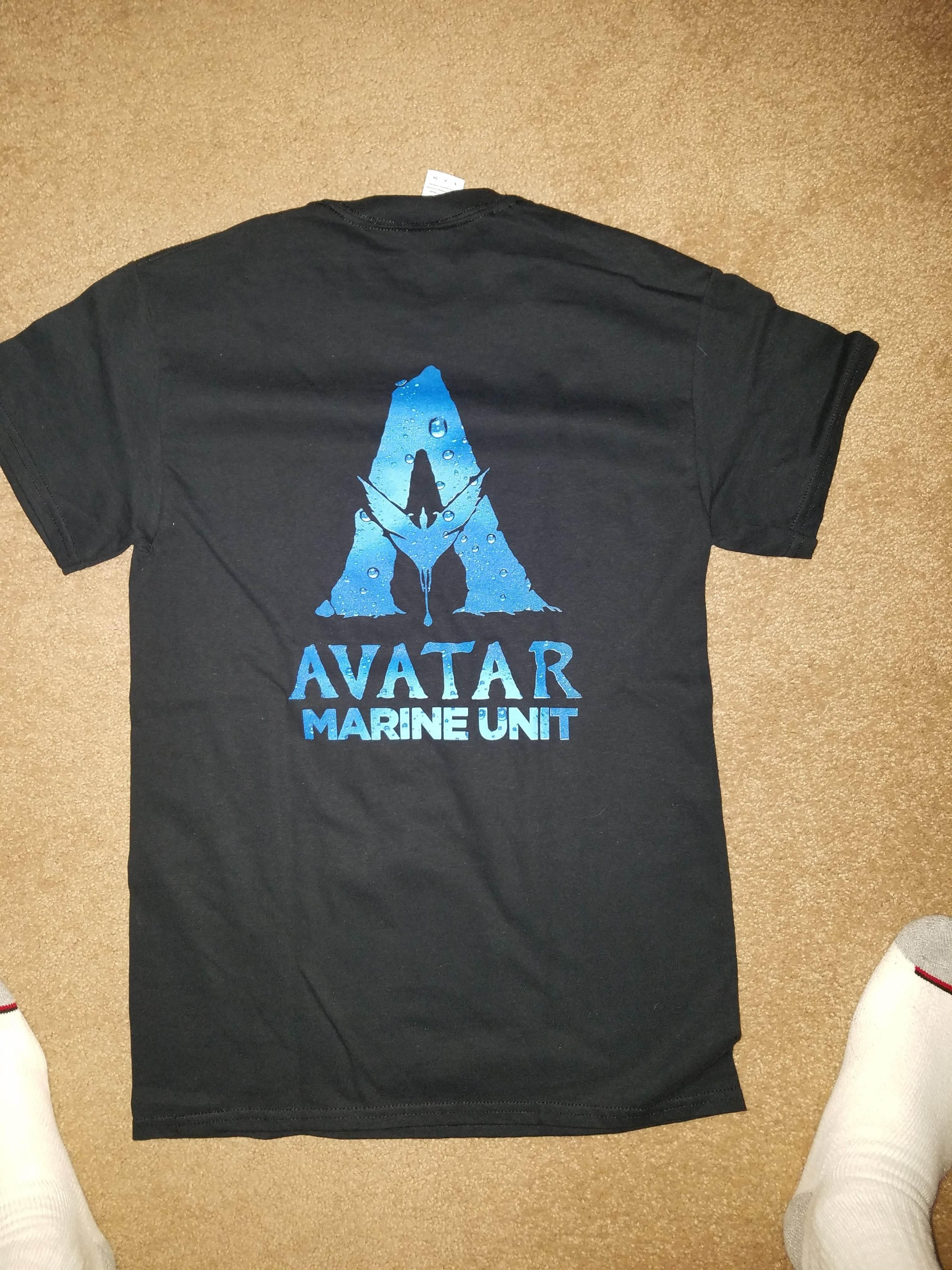 A Staff T-Shirt For James Cameron's Avatar : ジェームズ・キャメロン監督のSFアクション映画の超大作「アバター」シリーズのスタッフ T シャツ ! !