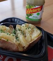 baked potato and salsa