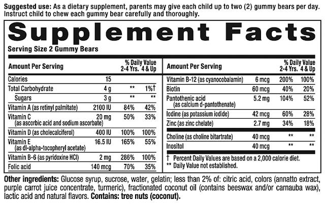 kẹo dẻo vitamin tồng hợp hàng xách tay từ Mỹ