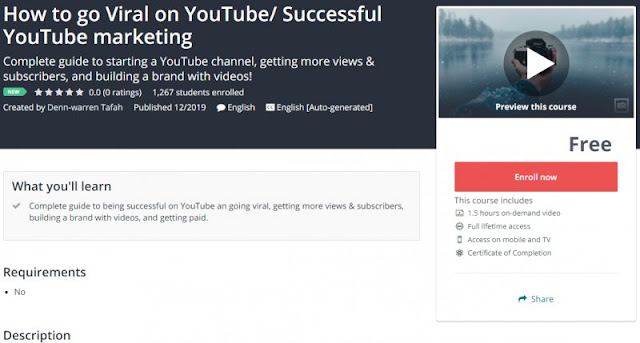 [100% Free] How to go Viral on YouTube/ Successful YouTube marketing