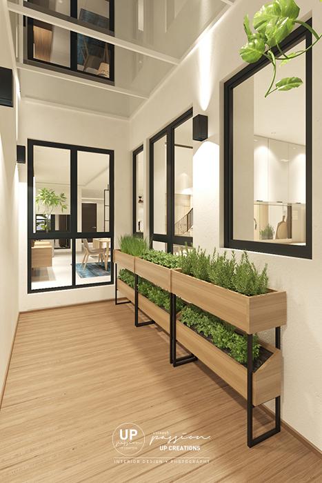 kalista superlink outdoor wood decking with herbs planters