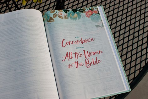 All The Women In The Bible Concordance inside of the CSB Study Bible