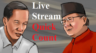 Link Live Streaming Hitung Cepat – Quick Count Pilpres 17 April 2019