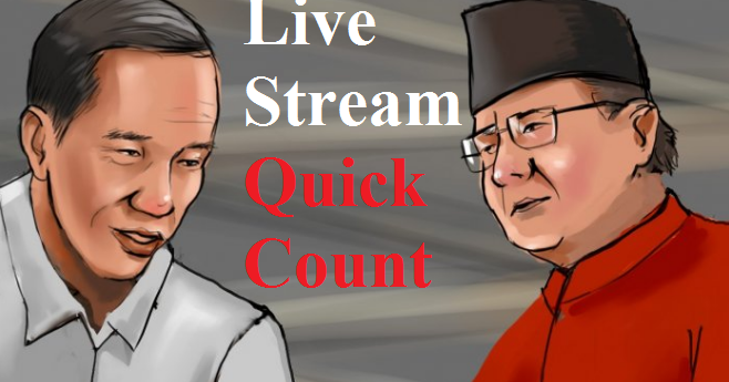 link live streaming hitung cepat  quick count pilpres 17