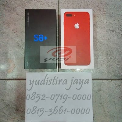 Samsung  S8+ dan Iphone 7 Red