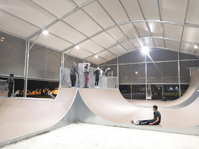 skatepark moureu éclairage