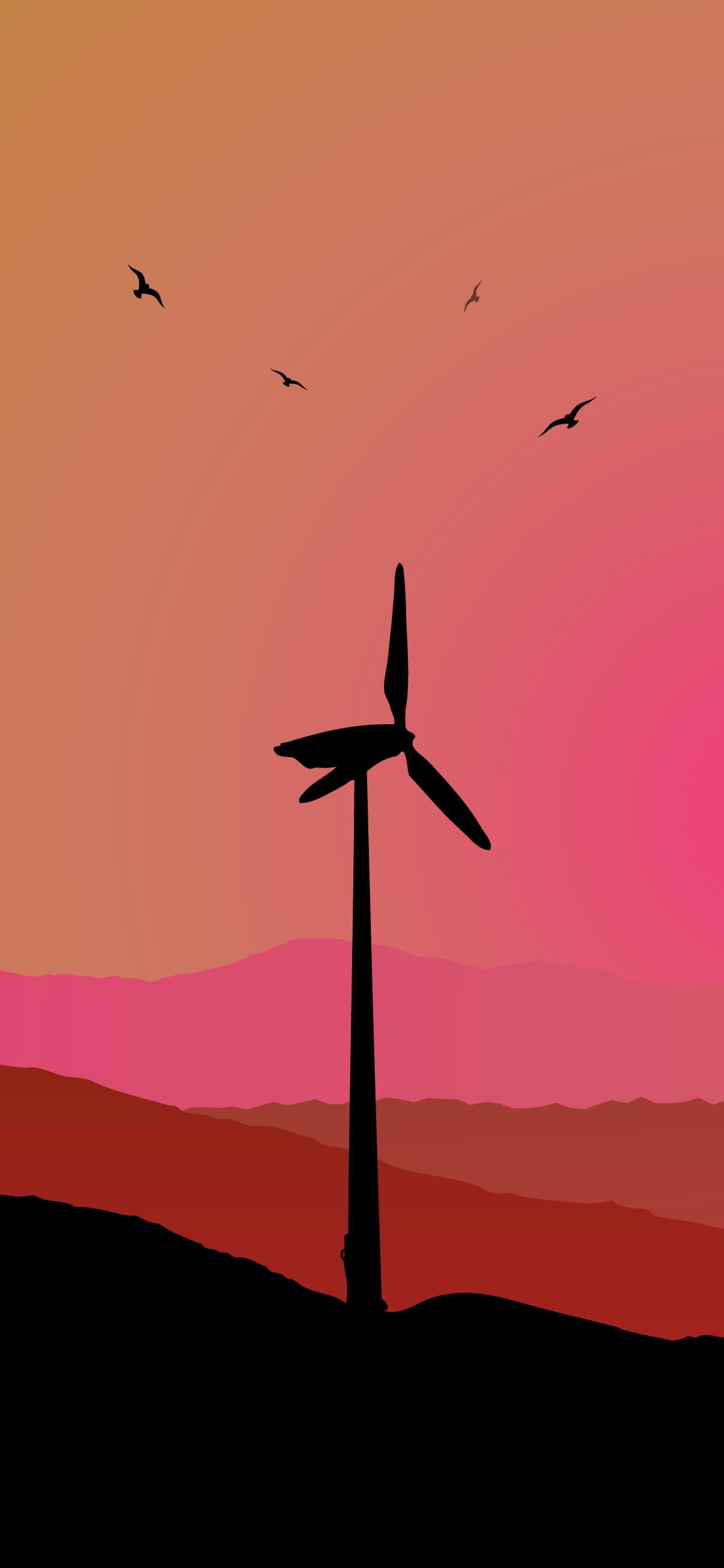 turbine wind phone wallpaper 4k