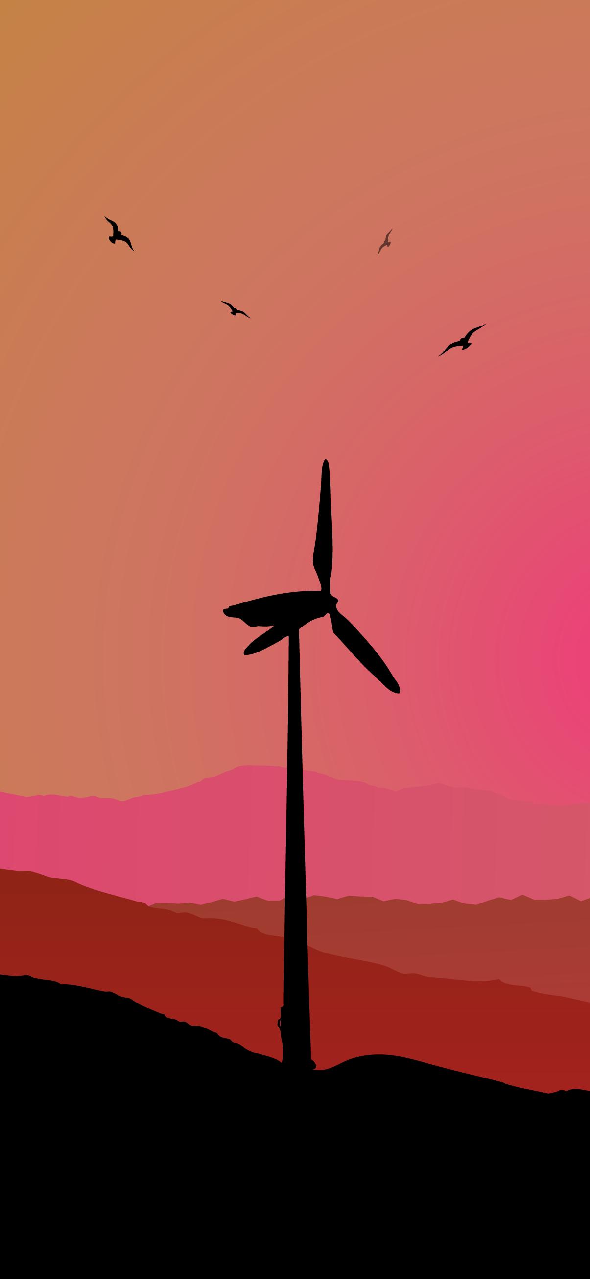 turbine wind phone wallpaper 4k