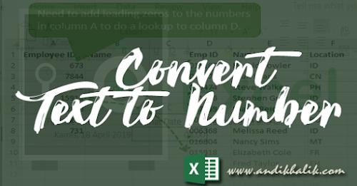 Panduan Cara convert text to number (Lengkap) pada excel