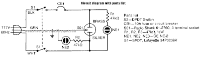 Simple Ground Tester Safety Circuit Diagram