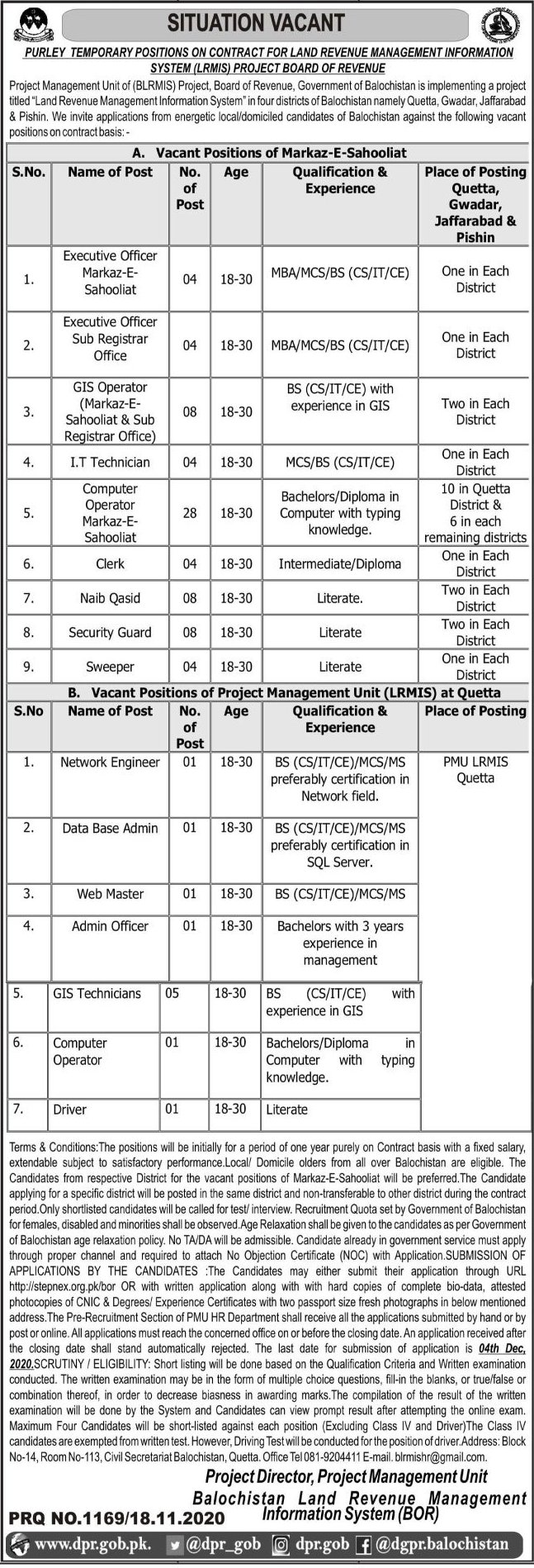 Project Management Unit PMU Jobs in Pakistan For Primary, Middle, Matric, Intermediate Degree, Bachelor Degree, Master Degree - Online Apply - stepnex.org.pk/bor Jobs 2021