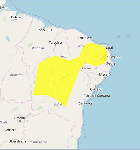 ONDE VAI CHOVER: Após registros de fortes chuvas, Inmet intensifica alerta para 182 cidades da Paraíba.