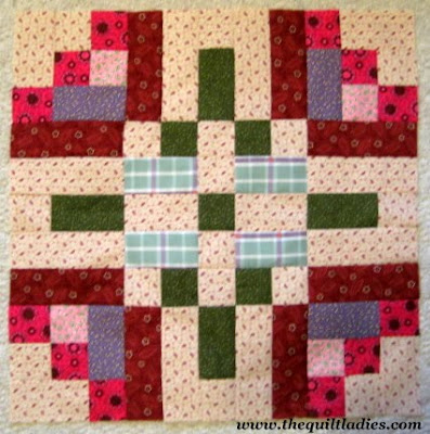 flower log cabin pattern