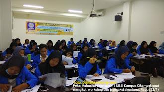 Cetak Akuntan, Mahasiswa UBSI Cikampek di Latih Workshop dan Ujian Transaksi Akuntansi