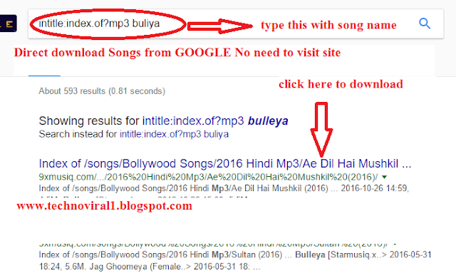 Direct download Songs from GOOGLE No need to visit site.