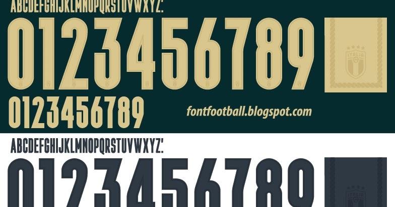font football font vector italy italia puma third renaissance 2019 2020 kit font vector italy italia puma third