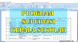 contoh program supervisi kepala sekolah sekolah dasar