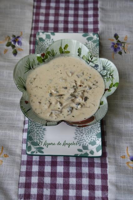 Salsa de champiñones Portobello  El Ágora de Ángeles