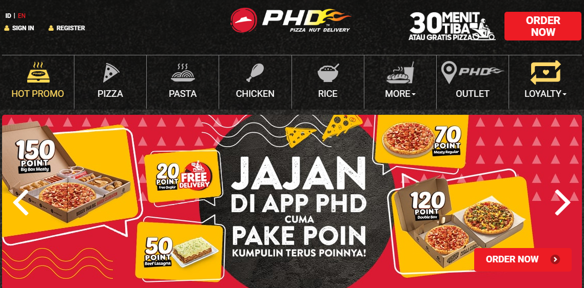 10 Outlet PHD Pizza Hut Delivery Bandung Untuk Pesan Online