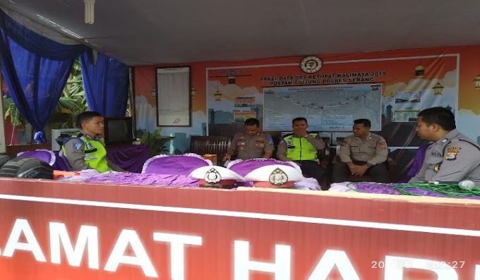 Antisipasi Pengamanan Arus Balik Lebaran, Kabid Humas Polda Banten Cek Kesiapan Pospam Ciujung