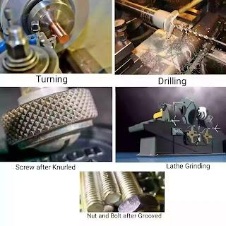 Operation of Lathe Machine