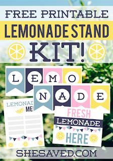free printable lemonade stand kit