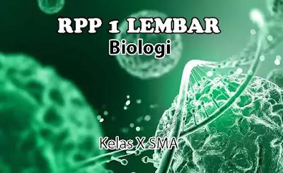 RPP 1 Lembar Biologi Kelas X SMA Semester 1