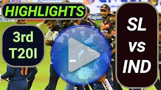 SL vs IND 3rd T20I 2021