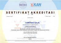 contoh sertifikat akreditasi iso 17025