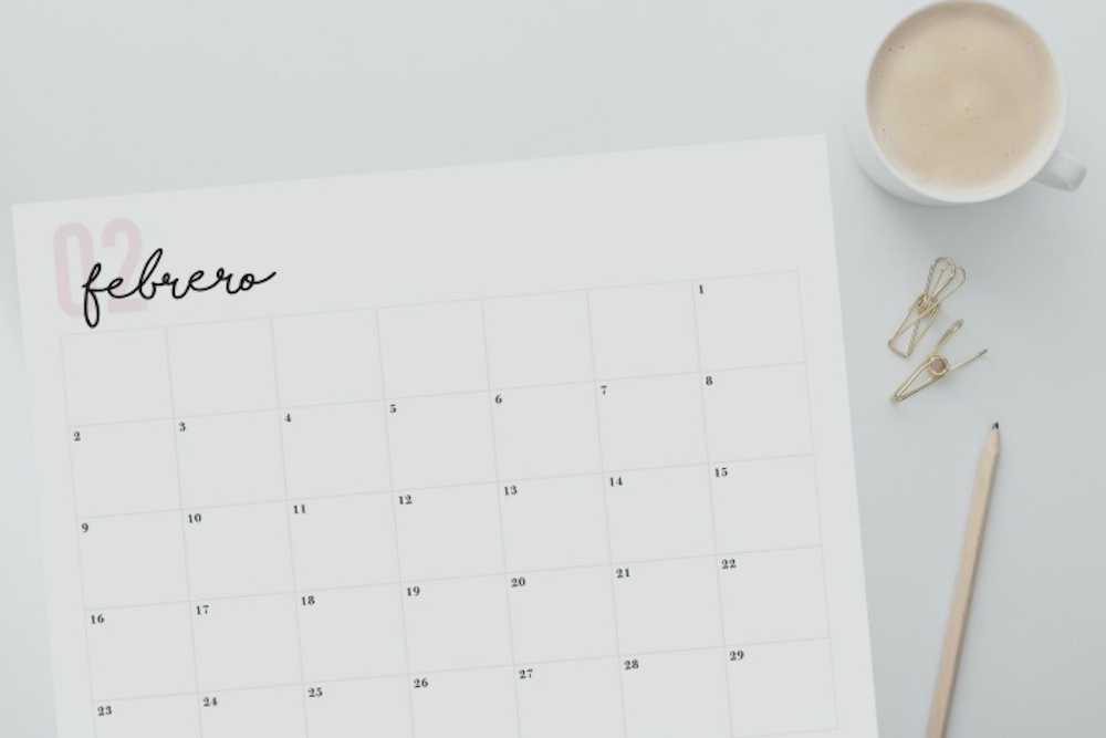 Calendario 2020 imprimible gratis
