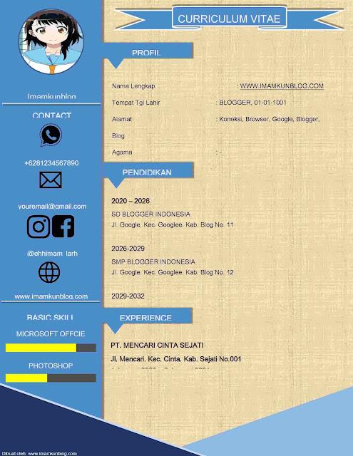 Contoh Curriculum Vitae Menarik Doc Ms Word [Free Download]