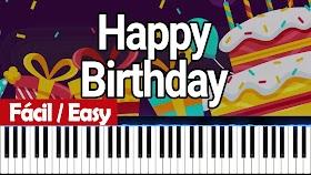 Cumpleaños Feliz (Happy birthday to you) - Piano PDF - Notas musicales