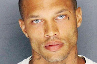 photo of a Mugshot of Jeremy Meeks Whose mugshot went viral for handsome looks