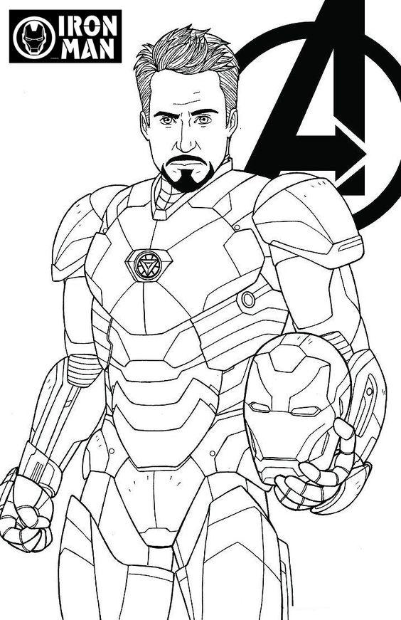 Tranh tô màu người sắt biệt đội siêu anh hùng