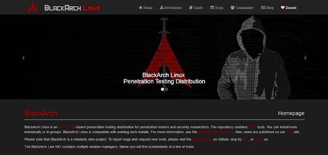 El primo malvado de Arch Linux, enfocado a las auditorias de redes, y trabajos forenses