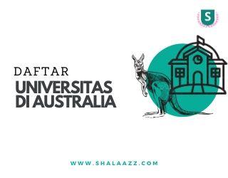 daftar universitas di australia